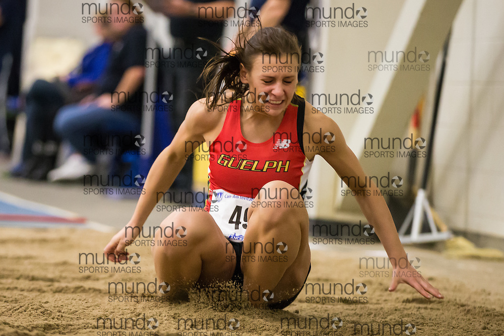 Celina Decarlois of the University of Guelph  competes at the 2014 CanAm Track and Field meet in Windsor Ontario, Saturday,  January 11, 2014.<br /> Mundo Sport Images/ Geoff Robins