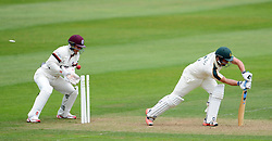 Nottinghamshire's Steven Mullaney is bowled by Somerset's Abdur Rehman. - Photo mandatory by-line: Harry Trump/JMP - Mobile: 07966 386802 - 14/06/15 - SPORT - CRICKET - LVCC County Championship - Division One - Day One - Somerset v Nottinghamshire - The County Ground, Taunton, England.