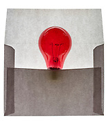 envelope with a red lightbulb