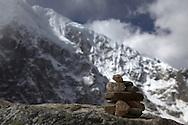apacheta - offering to apus, the mountain god