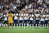 Football - 2019 / 2020 Premier League - Tottenham Hotspur vs. Aston Villa<br /> <br /> A minute's applause for former player Justin Edinburgh before the game, at The Tottenham Hotspur Stadium.<br /> <br /> COLORSPORT/ASHLEY WESTERN