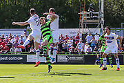 Forest Green Rovers Christian Doidge(9) goes up to head the ball during the Vanarama National League Play Off second leg match between Forest Green Rovers and Dagenham and Redbridge at the New Lawn, Forest Green, United Kingdom on 7 May 2017. Photo by Shane Healey.