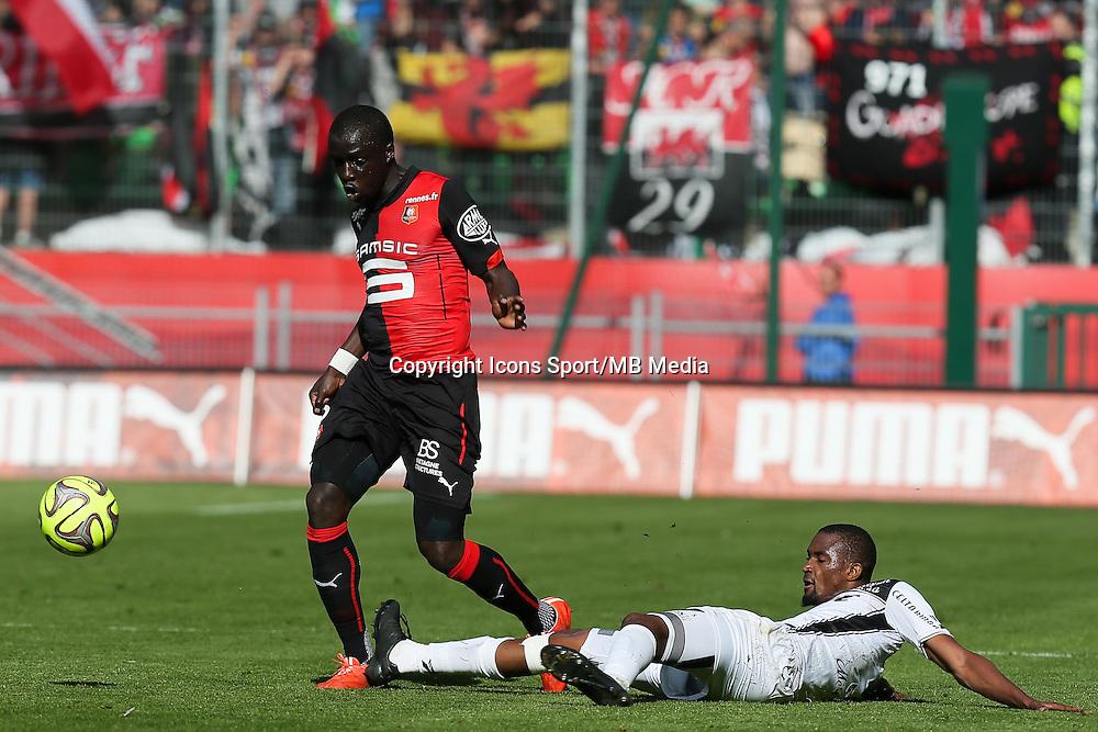 Cheik MBENGUE / Moustapha DIALLO - 12.04.2015 - Rennes / Guingamp - 32eme journee de Ligue 1 <br /> Photo : Vincent Michel / Icon Sport