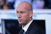 Reading first team manager Jaap Stam during the EFL Sky Bet Championship play off first leg match between Fulham and Reading at Craven Cottage, London, England on 13 May 2017. Photo by Jon Bromley.