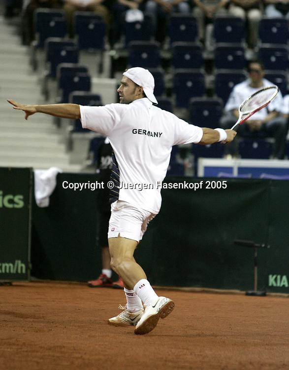 NICOLA KIEFER (GER), Davis CUP 2005, Czech Rep.-GER, Liberec<br /> <br /> Tennis - Davis Cup 2005 - ITF Davis Cup -  Arena Tipsport - Liberec -  - Czech Republic - 23 September 2005. <br /> &copy; Juergen Hasenkopf