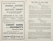 All Ireland Senior Hurling Championship Final,.Brochures,.04.09.1949, 09.04.1949, 4th September 1949, .Tipperary 3-11, Laois 0-3, .Minor Kilkenny v Tipperary, .Senior Tipperary v Laois, .Croke Park, ..Advertisements, Mineral Waters and Bottled Drinks Corcoran & Co Ltd, Comfit Shoes and Governey's Agricultural Boots Catherlogh Castle Boot factory Ltd, ..Articles, The Path to The Final Senior Minor, Rule Changes,