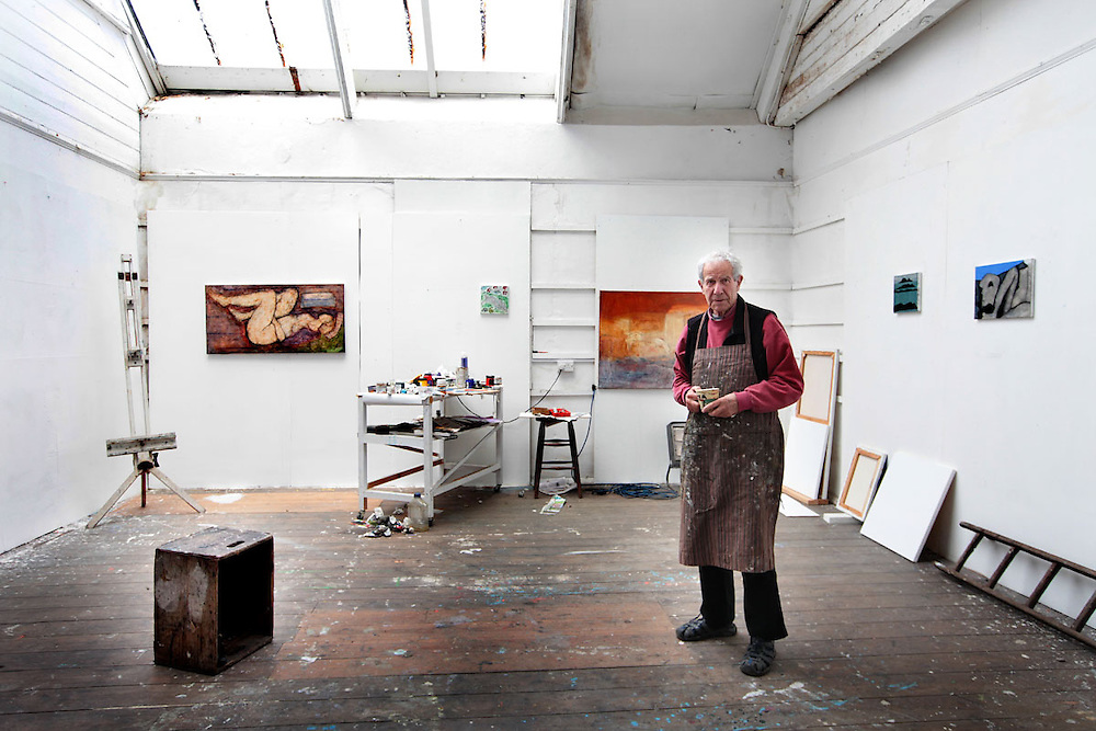 John Emanuel painting in Studio 5.<br />