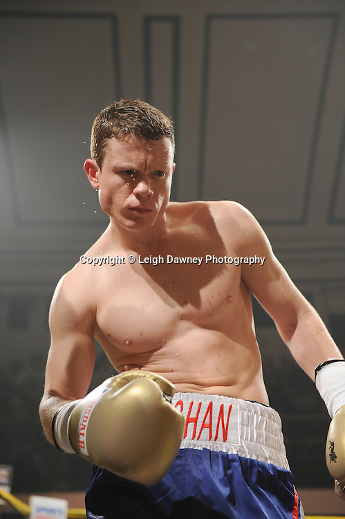 Peter Vaughan (pictured) defeats Wayne Goddard at Quarter Final Two  - The Light Middleweights II. York Hall, Bethnal Green, London, UK. 15th September 2011. Photo credit: © Leigh Dawney.
