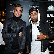 NLD/Amsterdam/20141030 - Opening popup store Balr, Kristoffer Peterson (l) en Samuel Armenteros