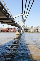 View from below of  Millennium Bridge