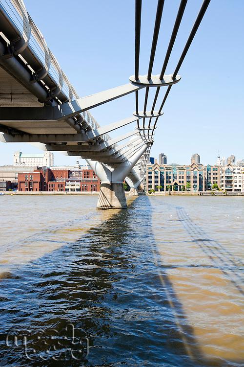 View from below of  Millennium Bridge