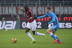 January 26, 2019 - Milan, Milan, Italy - Tiemoue' Bakayoko #14 of AC Milan competes for the ball with Fabian Ruiz #8 of SSC Napoli during the serie A match between AC Milan and SSC Napoli at Stadio Giuseppe Meazza on January 26, 2018 in Milan, Italy. (Credit Image: © Giuseppe Cottini/NurPhoto via ZUMA Press)
