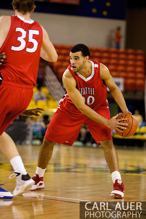 November 27, 2008: Seattle University forward Mike Boxley (00) looks for a pass in the opening round of the 2008 Great Alaska Shootout at the Sullivan Arena