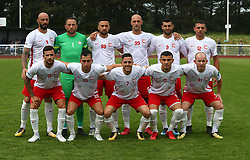May 31, 2018 - London, United Kingdom - Northern Cyprus Team Shoot.during Conifa Paddy Power World Football Cup 2018  Group B match between Northern Cyprus against Karpatalya at Queen Elizabeth II Stadium (Enfield Town FC), London, on 31 May 2018  (Credit Image: © Kieran Galvin/NurPhoto via ZUMA Press)