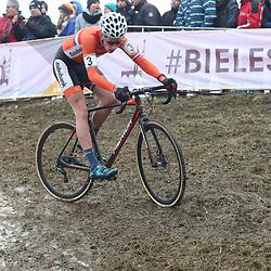 27-01-2017: Wielrennen: Wereldkampioenschap veldrijden: Luxemburg<br />BIELES (LUX) cyclocross  <br />Ryan Kamp was de eerste Nederlander op het WK