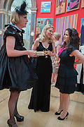 GRAYSON PERRY; SARAH GREENBERG; ZOE APPLEYARD, Royal Academy of Arts Annual dinner. Piccadilly. London. 29 May 2012.