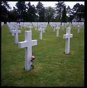 The American cemetery on Omaha beach