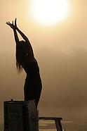 Gemma Farrell, Gratitude Yoga, at Sunrise at Omega