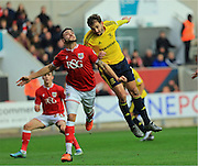 Derrick Willams, Cristhian Stuani during the Sky Bet Championship match between Bristol City and Middlesbrough at Ashton Gate, Bristol, England on 16 January 2016. Photo by Daniel Youngs.