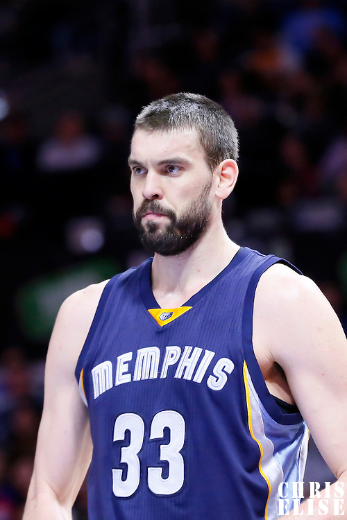23 February 2015: Memphis Grizzlies center Marc Gasol (33) is seen during the Memphis Grizzlies 90-87 victory over the Los Angeles Clippers, at the Staples Center, Los Angeles, California, USA.