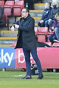 Crewe manager David Artell  during the EFL Sky Bet League 2 match between Crewe Alexandra and Lincoln City at Alexandra Stadium, Crewe, England on 26 December 2018.