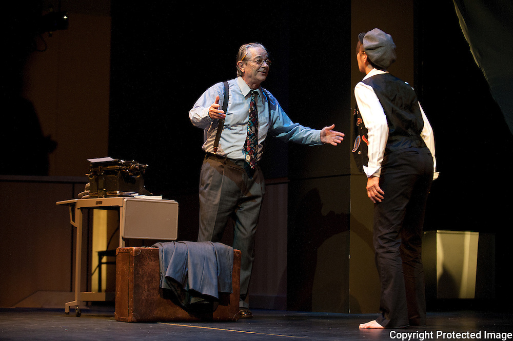 """(Photo by Paul W Gillespie) 9/14/11 Washington College Drama Department presents """"All Blues"""" a new work by the distinguished playwright Robert Earl Price based on the story of a white newspaper reporter who traveled through the South in 1948 as a black man. The production is a collaboration between the Washington College Department of Drama and the Atlanta, Ga. theater company 7 Stages."""