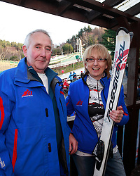 No fee for Repro: 22.01.2012.Edward Smythes and Rosemary Mayrhuber pictured during World Snow Day at the Ski Club of Ireland in Kilternan who hosted a festival day of snowsports activities. Pic Andres Poveda.