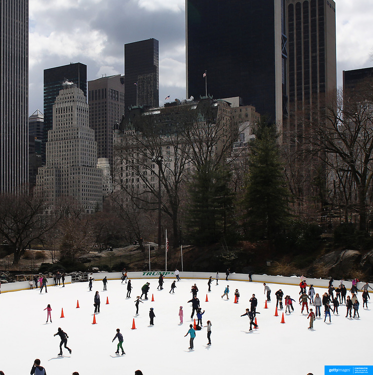 The Trump Ice Skating Rink, also known as the Wollman Rink in Central Park, Manhattan, New York, USA. 28th March 2013. Photo Tim Clayton