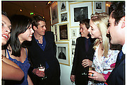 Pre Bafta party jointly hosted by Tina Brown and Elizabeth Murdoch. St. Martin's Lane Hotel. 8 April 2000<br />
