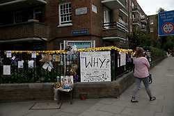UK ENGLAND LONDON 14JUL17 - Messages for victims of the Grenfell Tower fire in north Kensington, west London, one month after the disaster that left over 80 people dead.<br /> <br /> jre/Photo by Jiri Rezac<br /> <br /> © Jiri Rezac 2017