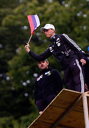 Igor Medved, coach of Slovenia during Ski Jumping Summer Continental Cup in Kranj, on July 2, 2011, in Kranj, Slovenia. (Photo by Vid Ponikvar / Sportida)