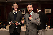 MATTHEW RAILTON; ALAN MONTAGUE-LEWIS, David Campbell Publisher of Everyman's Library and Champagen Bollinger celebrate the completion of the Everyman Wodehouse in 99 volumes and the 2015 Bollinger Everyman Wodehouse prize shortlist. The Archive Room, The Goring Hotel. London. 20 April 2015.