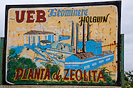 Mining sign in San Andres, Holguin, Cuba.