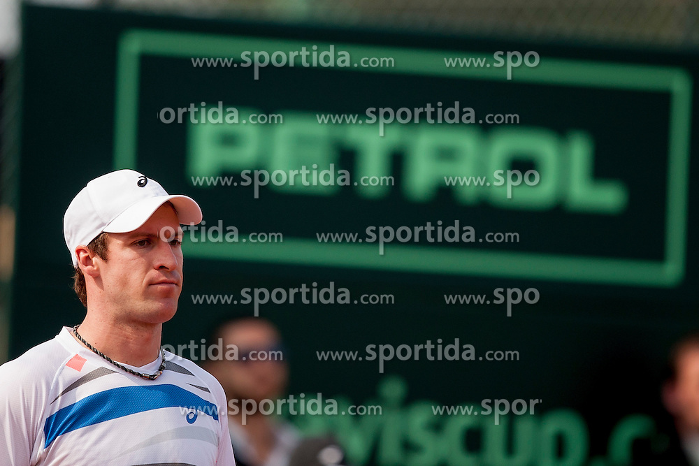 Blaz Rola and Grega Zemlja of Slovenia play against Jonathan Erlich and Andy Ram of Israel during 3rd match of Davis cup Slovenia vs. Israel on April 6, 2014 in Portoroz, Slovenia. Photo by Urban Urbanc / Sportida