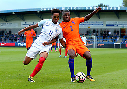 Chris Willock of England Under 20s takes on Sherel Floranus of Netherlands Under 20s - Mandatory by-line: Robbie Stephenson/JMP - 31/08/2017 - FOOTBALL - Telford AFC - Telford, United Kingdom - England v The Netherlands - International Friendly