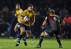 Tom Dunn of Bath Rugby in possession - Mandatory byline: Patrick Khachfe/JMP - 07966 386802 - 23/11/2019 - RUGBY UNION - The Twickenham Stoop - London, England - Harlequins v Bath Rugby - Heineken Champions Cup