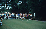 Pat Bradley  hits the the first ever shot<br /> The inaugural Solheim Cup competition took place in Orlando, Florida, United States at Lake Nona Golf &amp; Country Club from November 16 to November 18, 1990. The United States team beat the European team 11&frac12; points to 4&frac12;.<br /> <br /> Picture Credit:  Mark Newcombe / www.visionsingolf.com