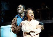 The Amen Corner<br /> by James Baldwin <br /> at The Olivier Theatre, NT, Southbank, London, Great Britain <br /> press photocall<br /> 10th June 2013 <br /> <br /> Marianne Jean-Baptiste<br /> as Margaret Alexander<br /> <br /> Eric Kofi Abrefa as David<br /> <br /> Lucian Msamati as Luke<br /> <br /> Sharon D Clarke as Odessa<br /> <br /> Photograph by Elliott Franks