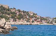 The village of Kalekoy in the Bay of Kekova<br /> south coast Turkey<br /> c. Ellen Rooney