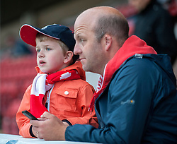 A young Walsall fan looks on - Photo mandatory by-line: Dougie Allward/JMP - Mobile: 07966 386802 26/08/2014 - SPORT - FOOTBALL - Walsall - Bescot Stadium - Walsall v Crystal Palace - Capital One Cup
