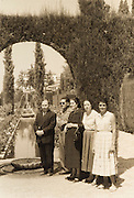 family posing for photo France