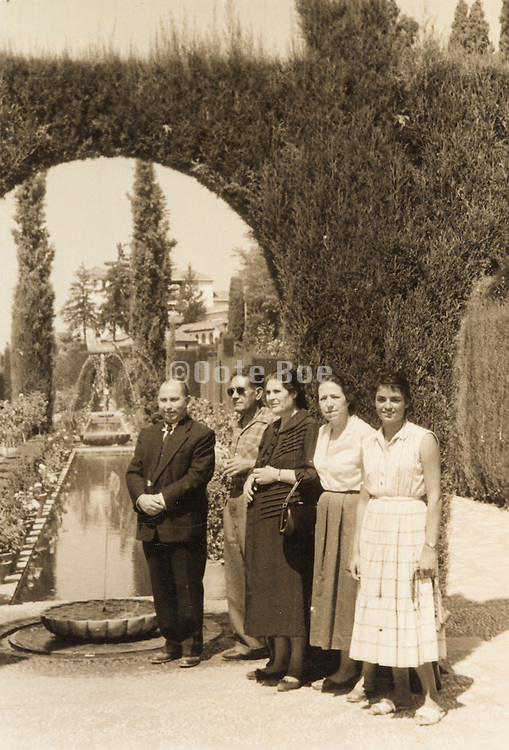 family posing for photo France