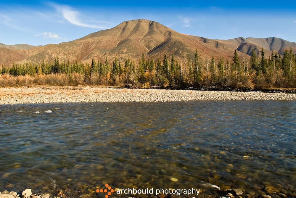 Blackstone River runs alongside the Dempster Highway, Yukon, Canada.