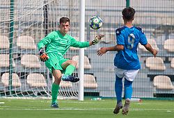 NAPLES, ITALY - Tuesday, September 17, 2019: Liverpool's goalkeeper Benjamin Winterbottom during the UEFA Youth League Group E match between SSC Napoli and Liverpool FC at Stadio Comunale di Frattamaggiore. (Pic by David Rawcliffe/Propaganda)