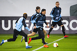 February 13, 2019 - MalmÅ, Sweden - 190213 Behrang Safari, Bonke Innocent, Adi Nalic and SÅ¡ren Rieks of MalmÅ¡ FF during a training session ahead of the Europa League match between MalmÅ¡ FF and Chelsea on February 13, 2019 in MalmÅ¡..Photo: Ludvig Thunman / BILDBYRN / kod LT / 35599 (Credit Image: © Ludvig Thunman/Bildbyran via ZUMA Press)