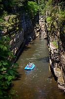 Raft float adventure, Ausable Chasm, New York