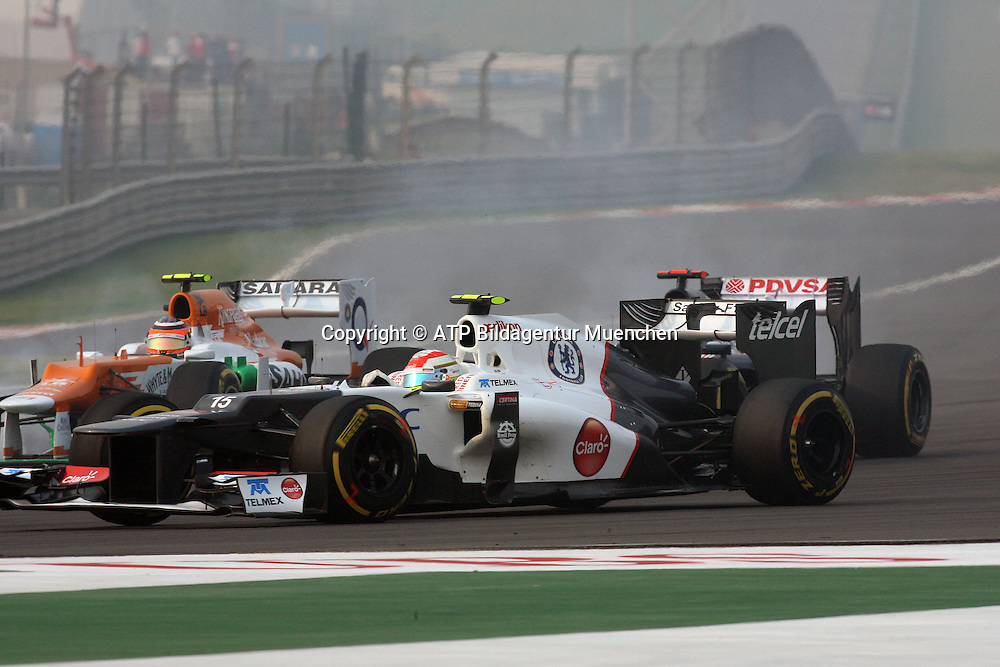 Sergio PEREZ Mendoza, Mexico, Team SAUBER-Ferrari F1 <br /> NOIDA, GP Formula 1 in INDIA near New Dehli, Formel 1 Grand Prix von INDIEN 28.10. 2012 - Rennen am BUDDH INTERNATIONAL Circuit F1  race  -  fee liable image - Photo Credit: &copy; ATP / THILL Arthur