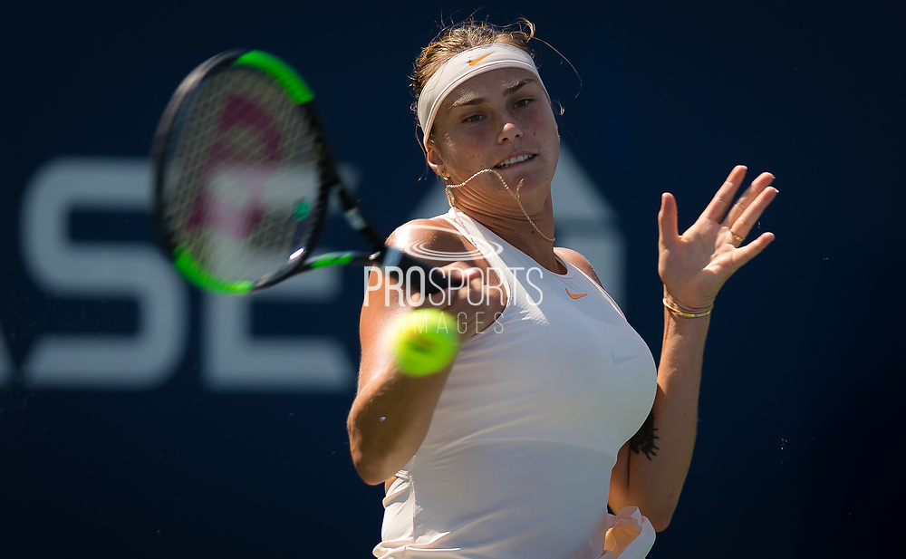 Aryna Sabalenka of Belarus in action during the second round at the 2018 US Open Grand Slam tennis tournament, at Billie Jean King National Tennis Center in Flushing Meadow, New York, USA, August 30th 2018, Photo Rob Prange / SpainProSportsImages / DPPI / ProSportsImages / DPPI