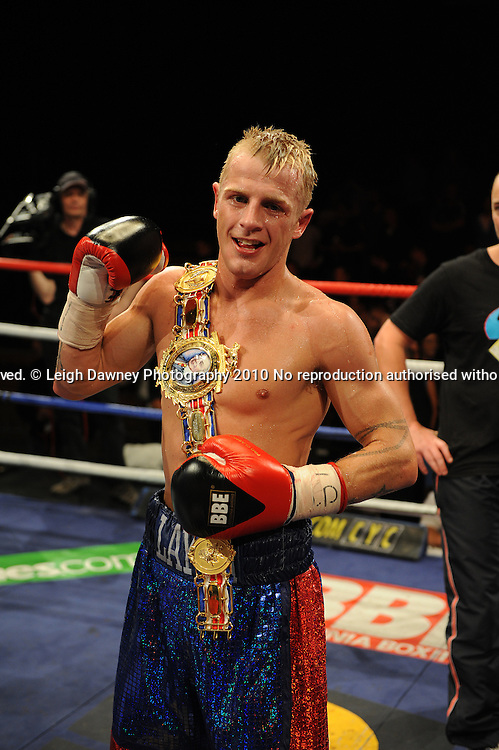 Gary Sykes (pictured) defeats Kevin O'Hara for the British Super-Featherweight Title at the Harvey Hadden Soorts Centre, Huddersfield on Friday 28th May 2010. Frank Maloney Promotions. Picture Credit © Leigh Dawney 2010.