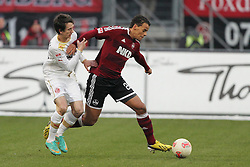 08.12.2012, easyCredit Stadion, Nuernberg, GER, 1. FBL, 1. FC Nuernberg vs Fortuna Duesseldorf, 16. Runde, im Bild Robbie KRUSE (Fortuna Duesseldorf) wird von Timothy CHANDLER (1. FC Nuernberg) abgedraengt // during the German Bundesliga 16h round match between 1. FC Nuernberg and Fortuna Duesseldorf at the easyCredit Stadium, Nuernberg, Germany on 2012/12/08. EXPA Pictures © 2012, PhotoCredit: EXPA/ Eibner/ Wuest..***** ATTENTION - OUT OF GER *****